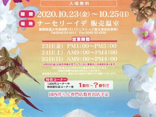 らん展出店のお知らせ 秋の洋らん展 in Fujiに出店いたします。