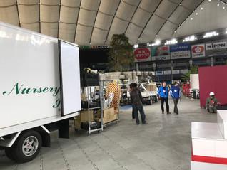 東京ドームのらん展準備中です!