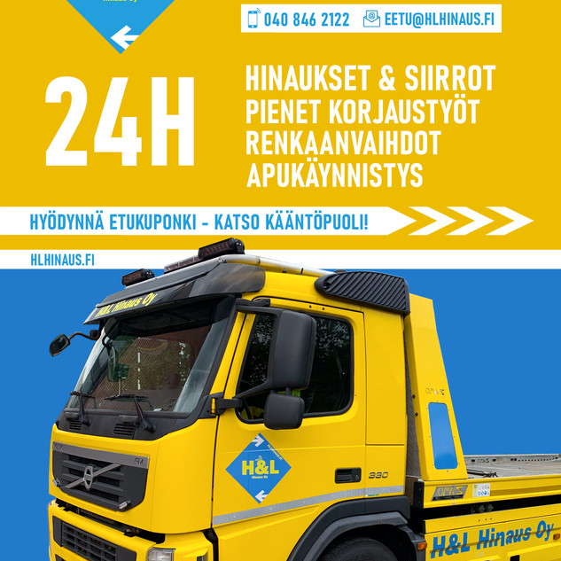 H&L Hinaus Oy_A5 Flyer__Etusivu_Vedos 1.
