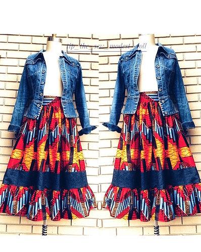 Isabella Maxi/midi broom skirt
