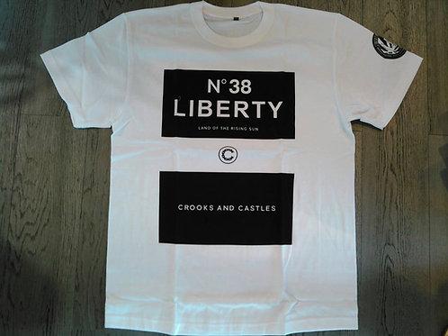 8th CROOKS&CASTLES×LB Tシャツ Ver.2 White