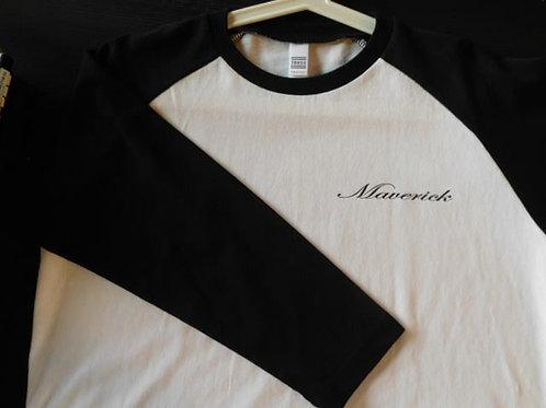 Maverick ベースボールTシャツ ホワイト/ブラック