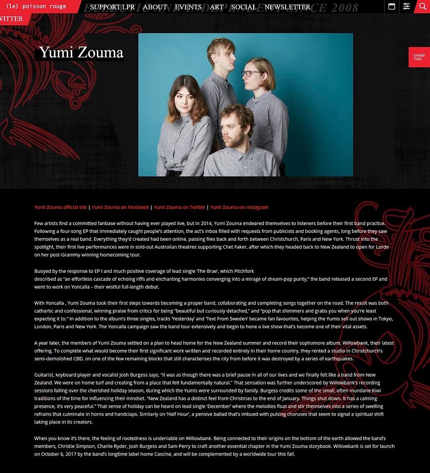 Yumi Zouma bio LPR.png