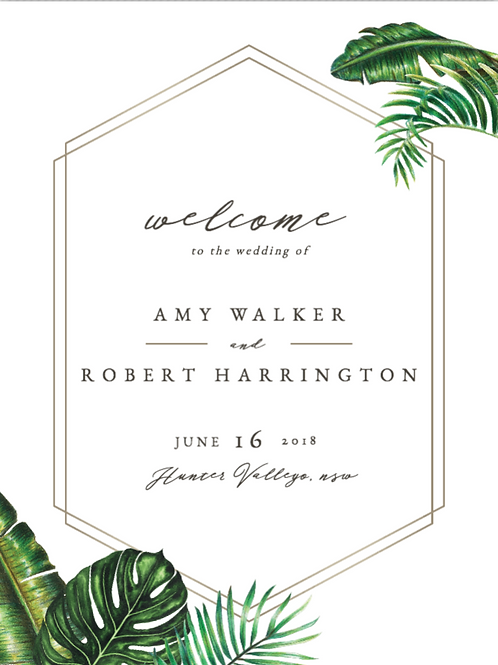 Personalised Tropical themed sign