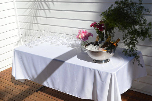 Trestle table and table cloth