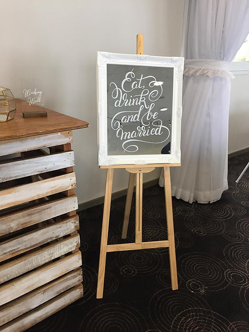 Eat, Drink and be Married Signage