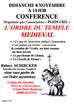 Conférence N° 1 - L'ORDRE DU TEMPLE MEDIEVAL