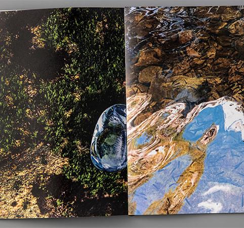 Inácquas: Lugares de Pensamentos, 2019, livro de artista, 35 x 50 (aberto), edição de 300