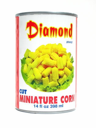 DIAMOND BRAND CUT BABY CORN 鑽石牌 切粒玉米仔 [24x398mL]