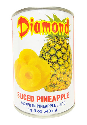 DIAMOND BRAND SLICED PINEAPPLE 鑽石牌 菠蘿片 [24x540g]