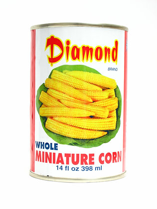 DIAMOND BRAND WHOLE BABY CORN 鑽石牌 原條玉米仔 [24x398mL]