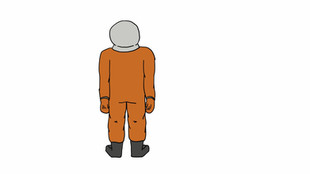 Cosmonaut character turn-a-rounds - 2017
