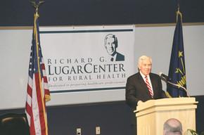 Sen. Lugar Speaking at Renaming Ceremony