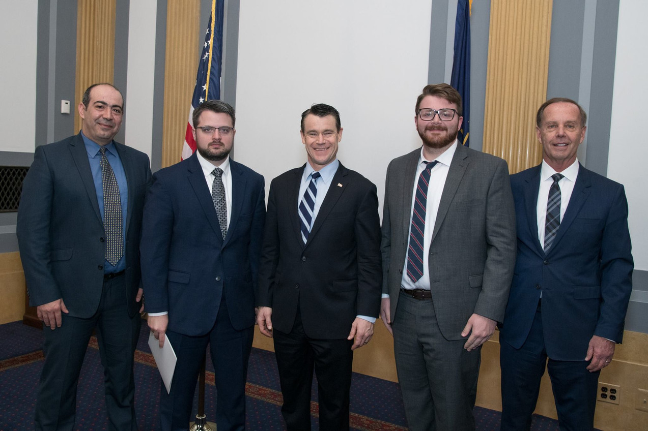 Lugar Center Staff with Sen. Young