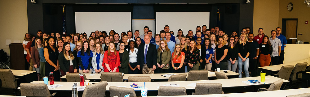 Congressman Larry Bucshon opened the First Student Healthcare Policy Forum