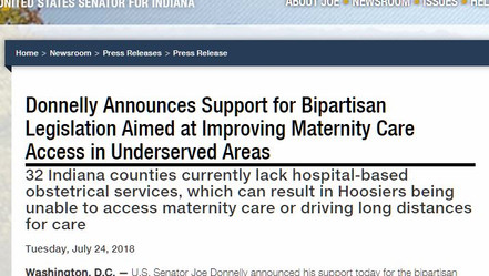 Lugar Center Works With Senator Donnelly to Increase Maternity Care