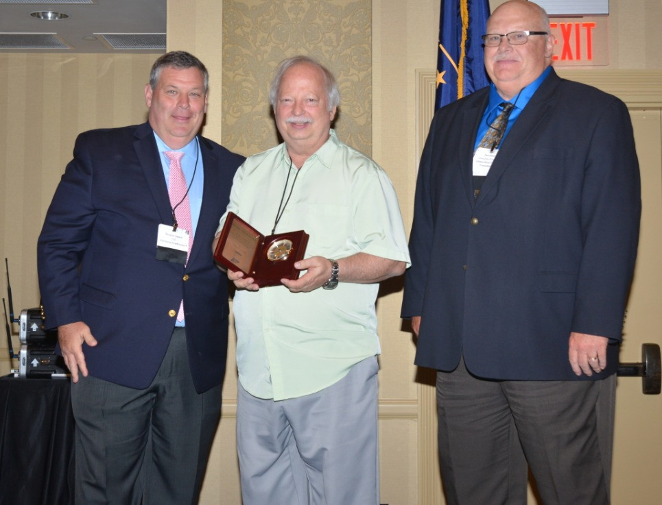 Dr. Stevens and his Education Award