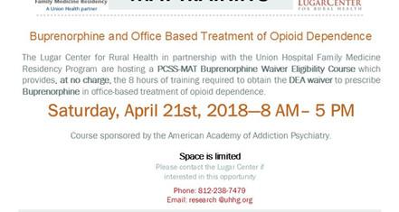Lugar Center & UHFMR To Host Buprenorphine Training