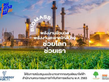 พลังงานชีวมวล พลังงานสะอาดใกล้บ้าน ช่วยโลก ช่วยเรา