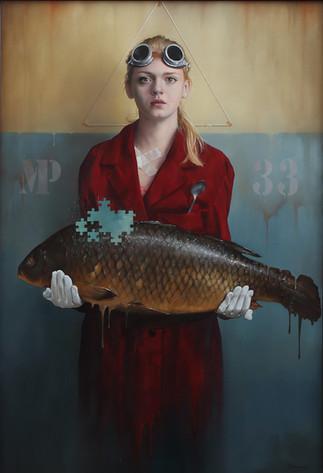 """""""MANIERE MYSTERIEUSE""""   140X95cm  Oil on canvas"""