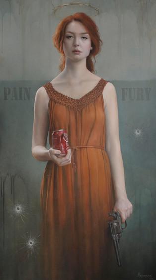 """""""Dolore ac furori""""    80x140cm  Oil on canvas"""