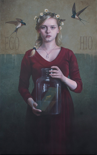SAPERE AUDE   116x73cm Oil on canvas