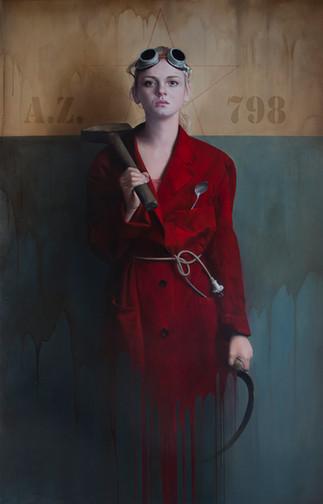,,Je crois en progrès,,   185x120 cm  oil on canvas