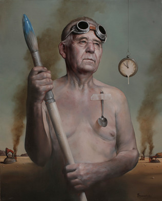 """""""Allegoria patrui mei""""  65 x 80 cm  Oil on canvas"""