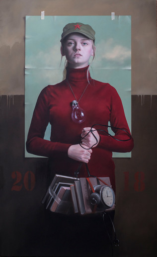 """Enlightenment""   146x89cm  / oil on canvas"
