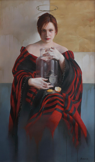 """Tempus Liquidum""   65x110 cm   Oil on canvas"
