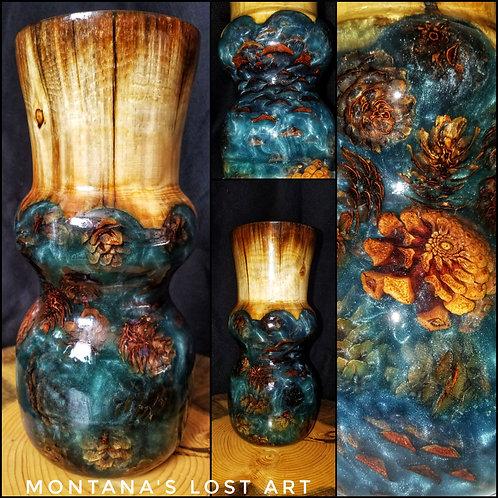 Hybrid Pinecone Vase | Elegant Art | Wooden Vase | High-End Home Decor