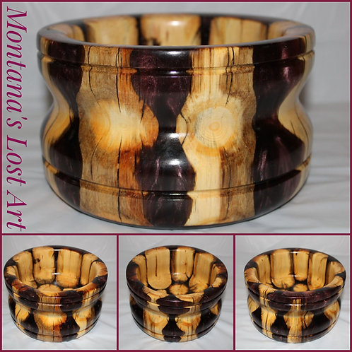 Dark Scarlet Bowl | Decorative Hybrid Bowl | Wood and Resin