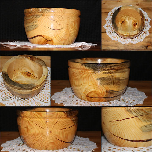 Red Hybrid Bowl | Wooden Bowl | Resin and Wood | Home Decor