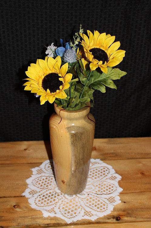 "12"" Tall Blue Pine Vase"