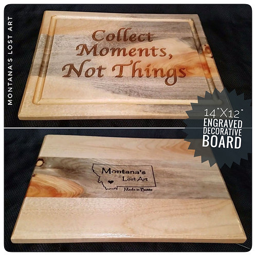 Decorative Board | Collect Moments Not Things | Decorative Kitchen Decor