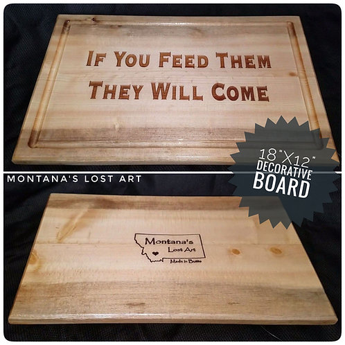 If you feed them they will come | Decorative Board | Serving Tray | Kitchen