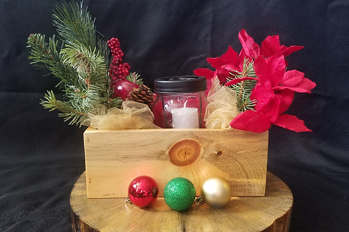 Small Centerpiece Box with Holiday Decor
