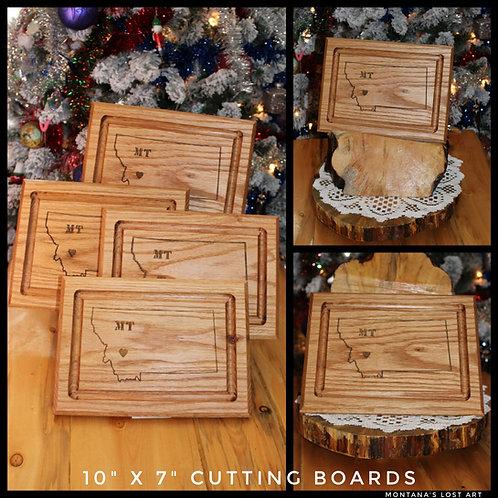 "Cutting Board | Red Oak | 10""x7"" | Montana Made"