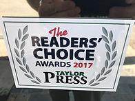 Taylor Press Reader's Choice Awards 2017