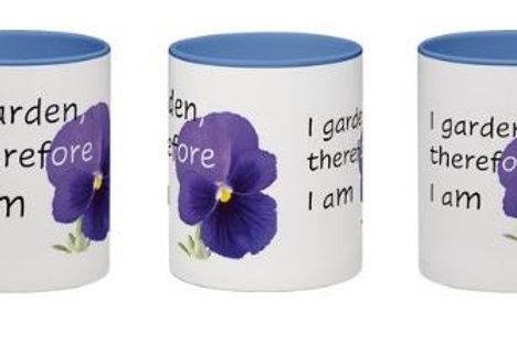 """I garden therefore I am"" mug"