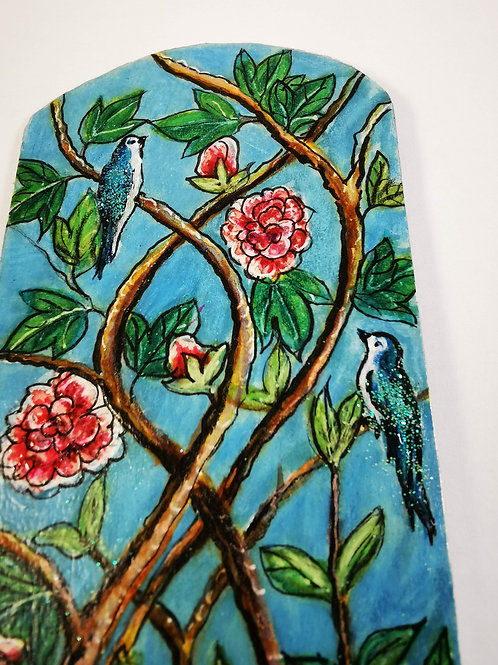 Turquoise chinoiserie with bluebirds
