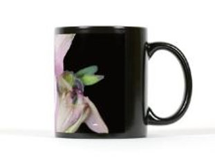Black mug Aquilegia vulgaris