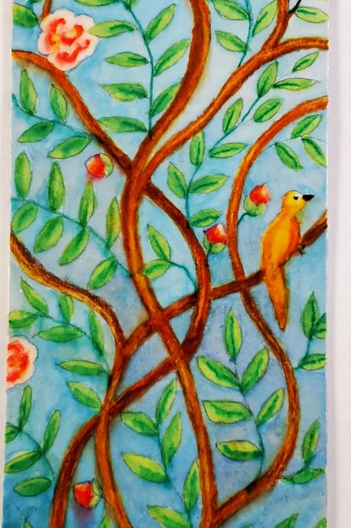 Chinoiserie with orange birds