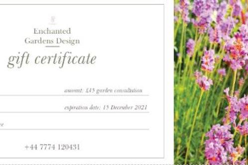 Enchanted Gardens gift certificate/voucher