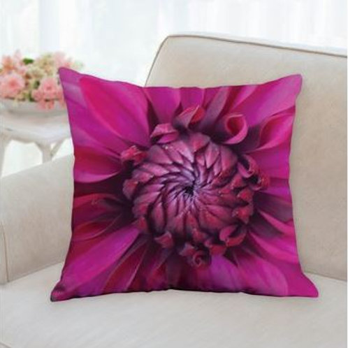Purple Flame Dahlia Cushion