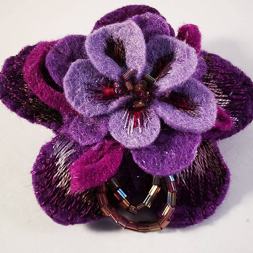 Purple and lilac brooch