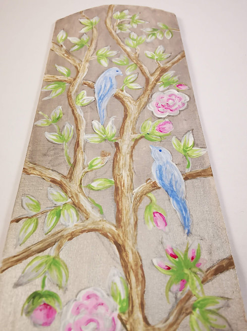 Chinoiserie with pale blue birds