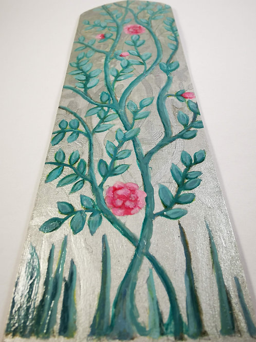 Turquoise chinoiserie on silver