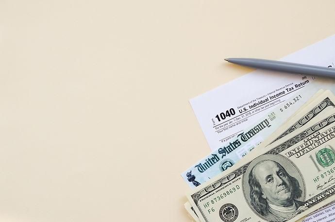 1040 Individual Income tax return form w