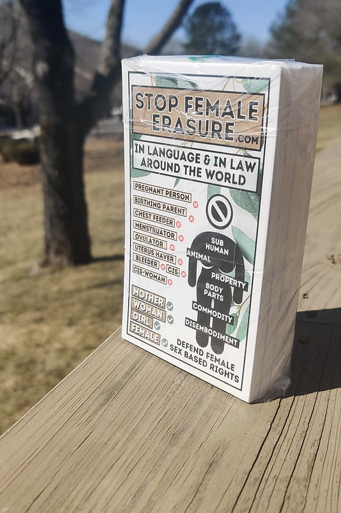 100 Pack - Stop Female Erasure - Classic Infographic Sticker - FREE SHIPPING